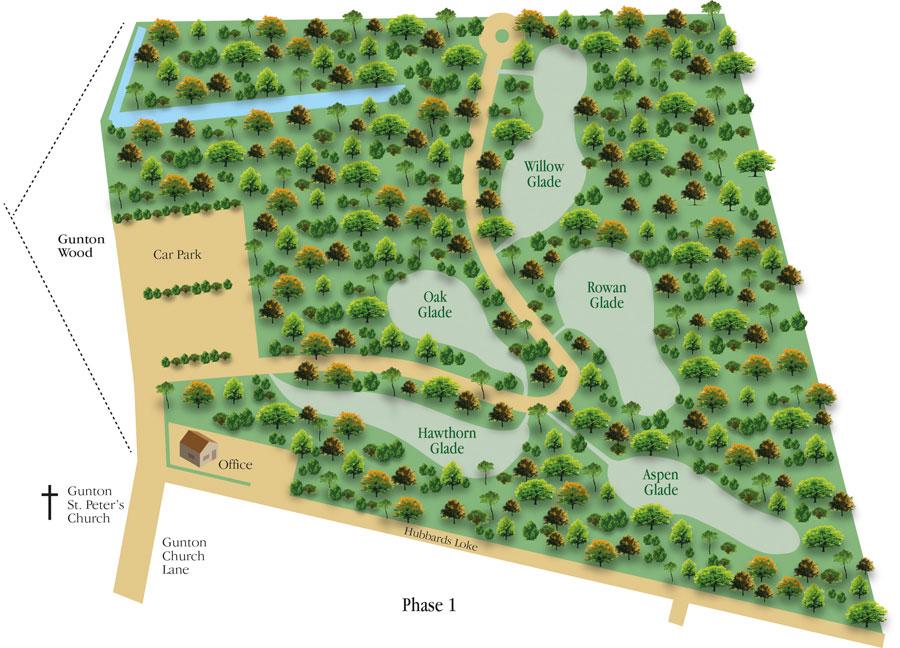 Gunton woodland burial parks site plan